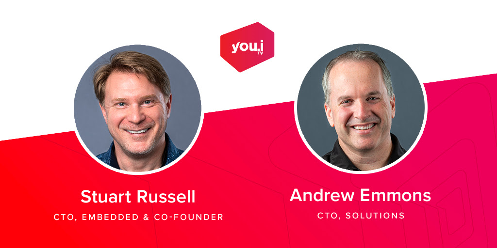 CapCHI February 2021 event image... Join us for a very special evening on Tuesday February 16th, 2021 at 6:00pm with You.i TV CTOs Stuart Russell and Andrew Emmons for an inside look at You.i Engine One, the technology behind the Kanata company's recent acquisition by WarnerMedia.